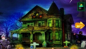 Jouer à Halloween escape from dwelling house