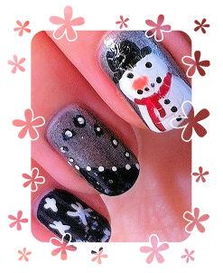 Calendrier De L'Avent #11: Nail art de Noël #2