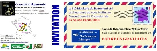 Invitation Ste Cécile 2013
