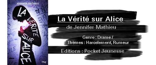 La vérité sur Alice de Jennifer Mathieu