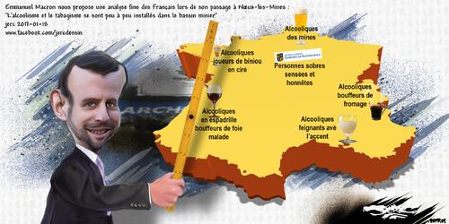 dessin de JERC mercredi 18 janvier 2017 caricature Emmanuel Macron Il a oublié de parler du probleme de consanguinité .... www.facebook.com/jercdessin