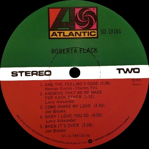 "Roberta Flack : Album "" Roberta Flack "" Atlantic Records SD 19186 [ US ]"