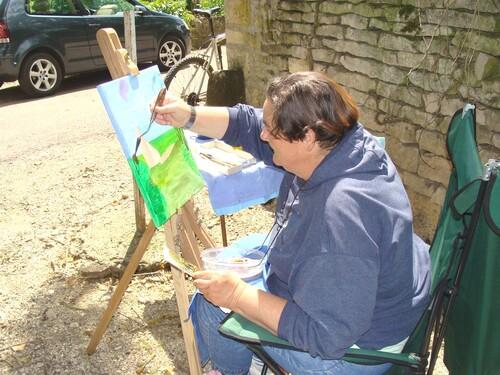 Les peintres à Brion sur Ource en 2009