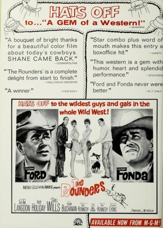THE ROUNDERS BOX OFFICE USA 1965