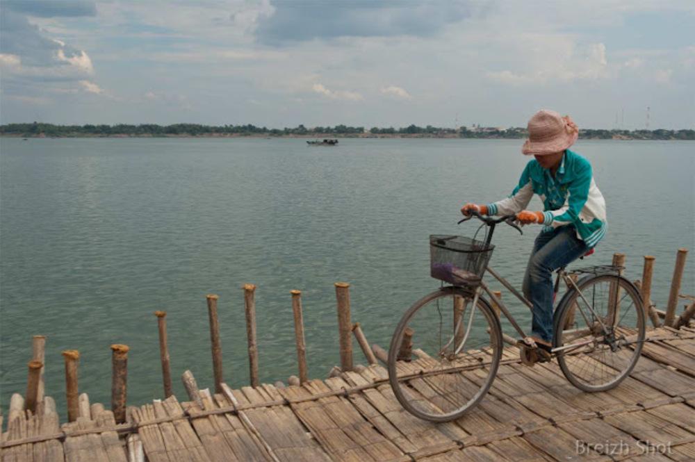 pont bambou - Koh Paen à Kampong Cham