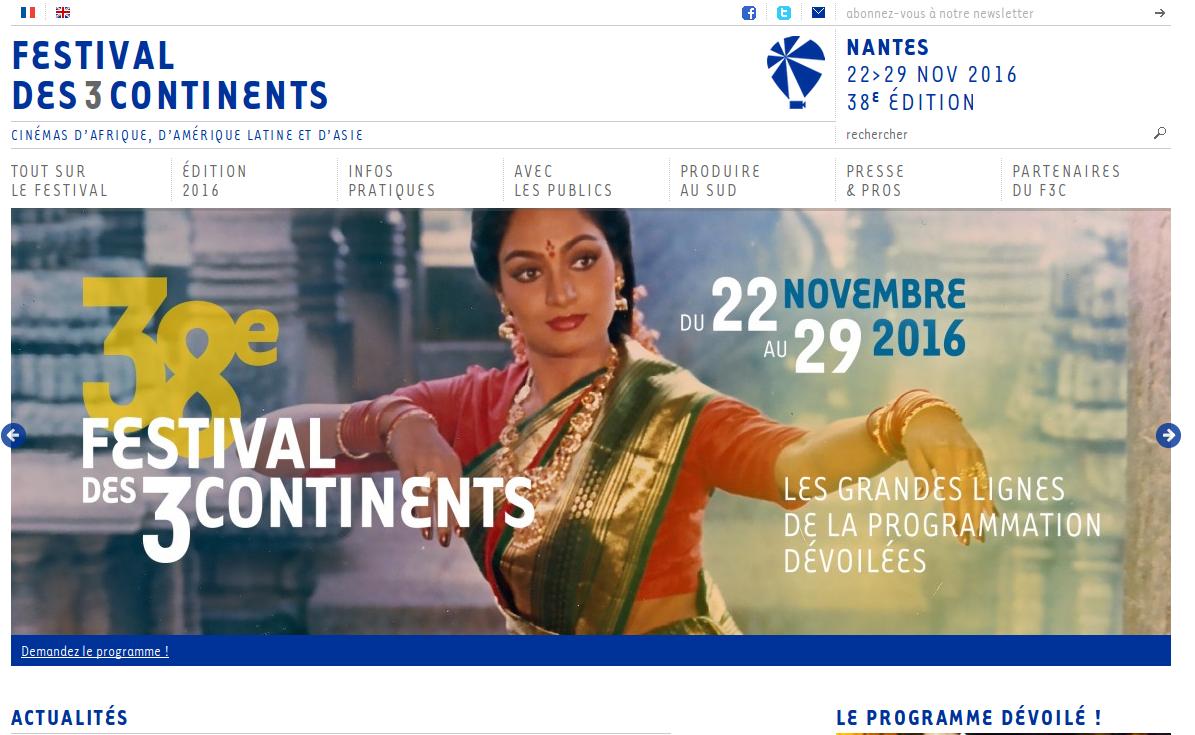 FESTIVAL DES 3 CONTINENTS édition 2016