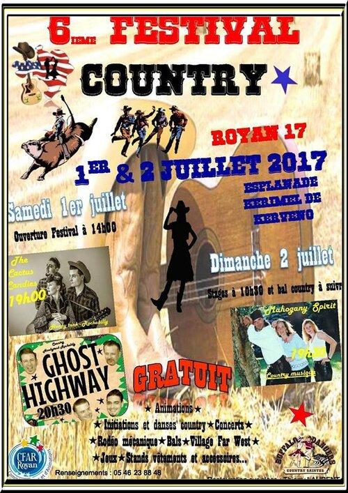 Festival Country à Royan 01 et 02  juillet 2017