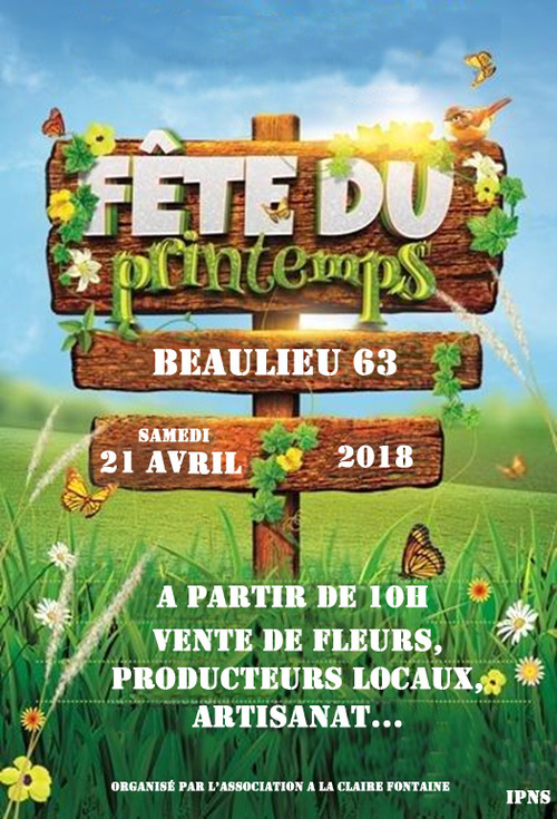 Fête du Printemps à Beaulieu.21 Avril 2018