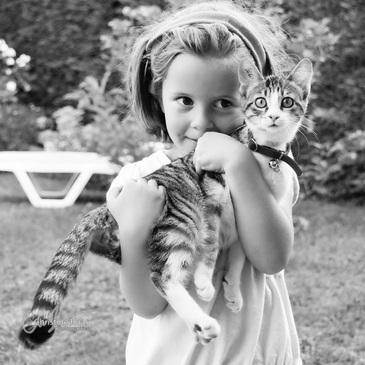 Des chats, des enfants, complicité