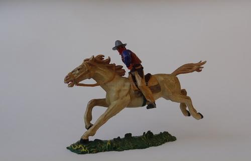 Réf: 7001 Bandit à cheval tirant au pistolet