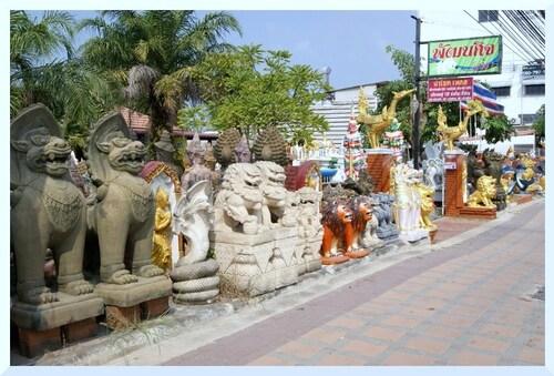 Thaïlande. Décorations d'extérieur.