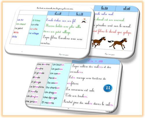 Fichier de progression en lecture : doubles consonnes et sons