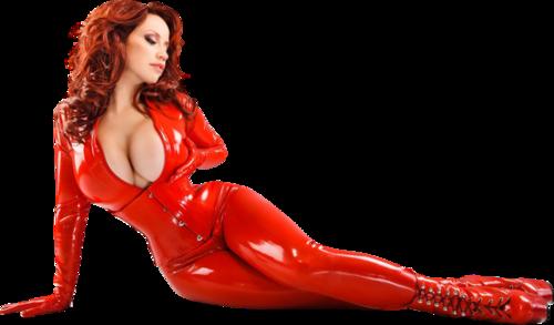 Femme vétue de rouge /  3
