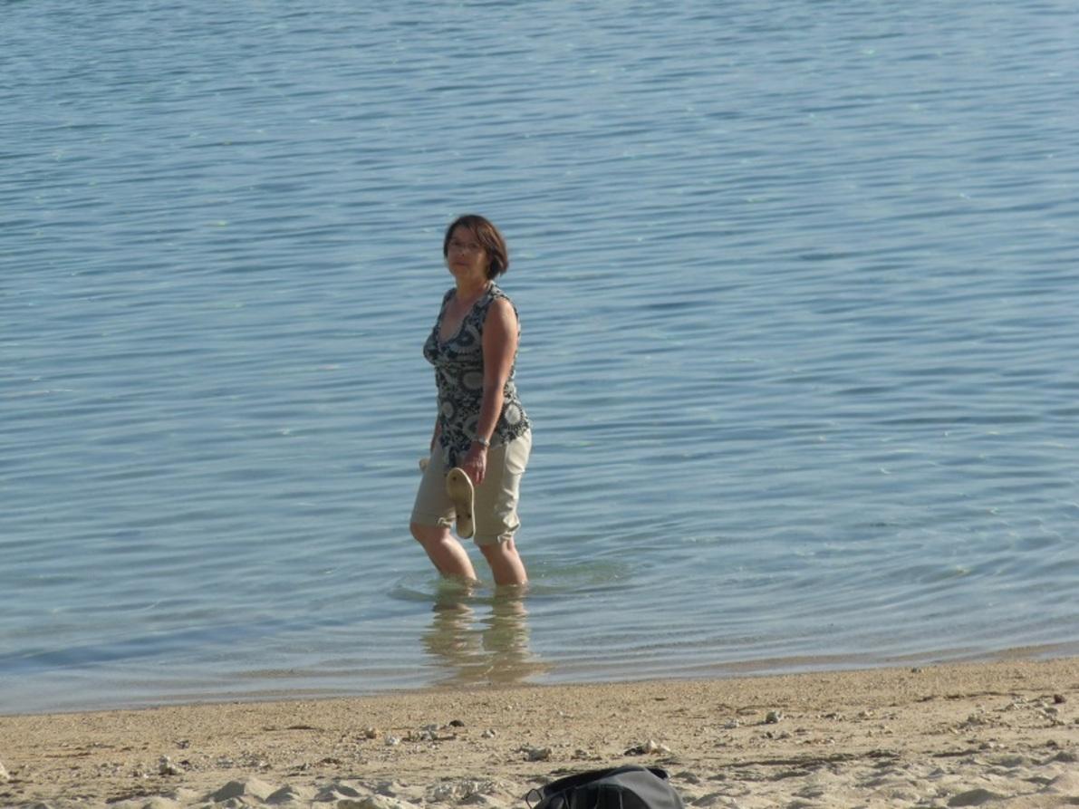 Le lagon, plage de l'Ermitage