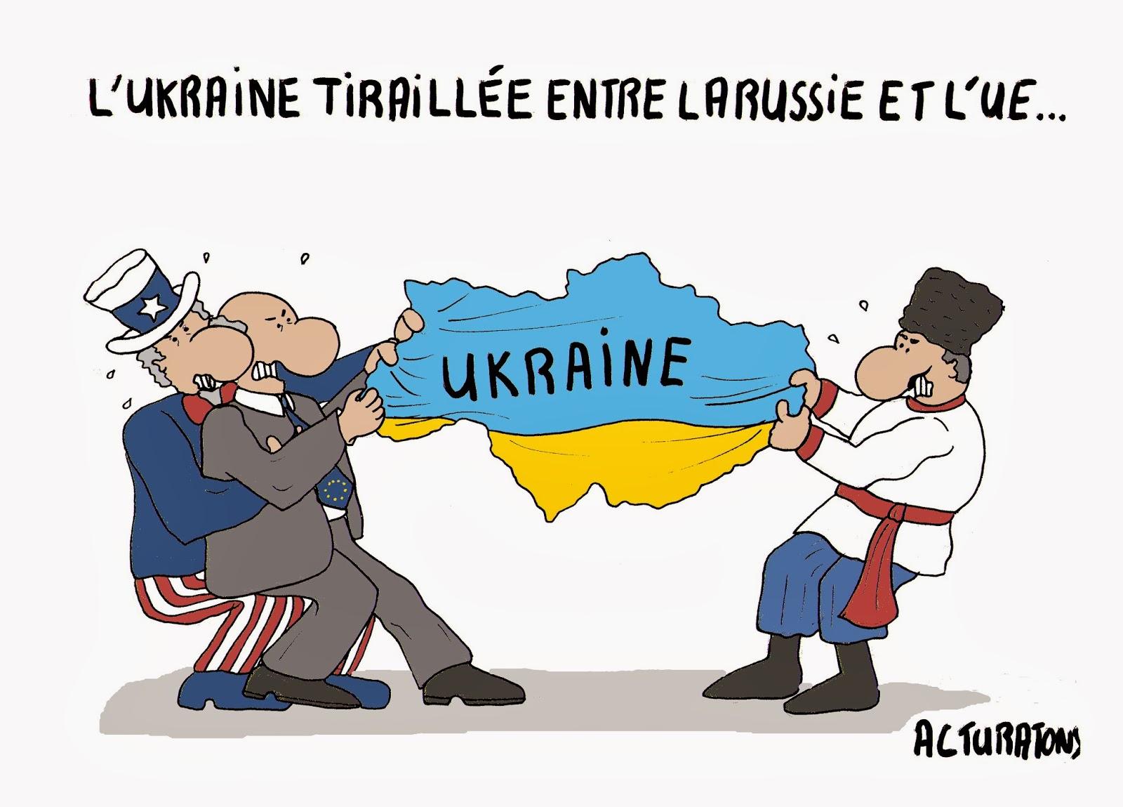 Par l'Ukraine politique luttant contre le russe