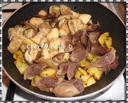 Pommes de terre aux Gésiers confits et Cèpes de Bordeaux