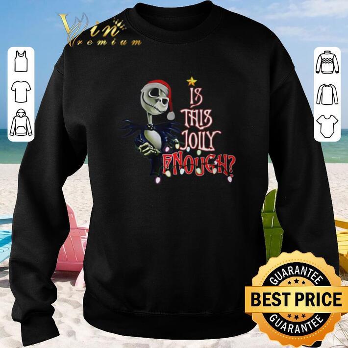 Premium Jack Skellington Santa Is This Jolly Enough shirt