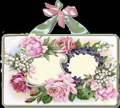 cadre fleuri vierge