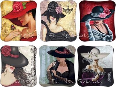 La Dame au chapeau ! cartonnettes
