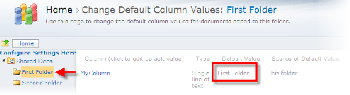 Default Values Moss 2010 Two