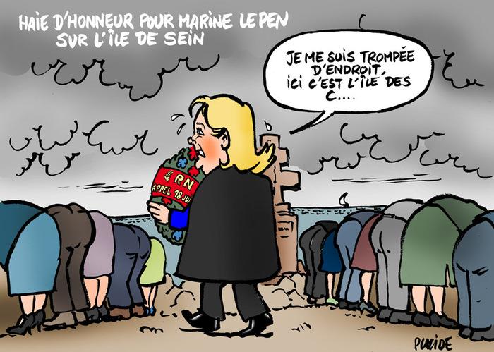 Marine Le Pen célèbre l'appel du 18 juin sur l'île de Sein