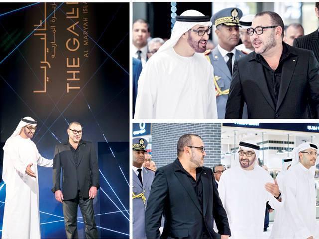 photoS du roi Mohamed 6 aux Emirates sur Facebook