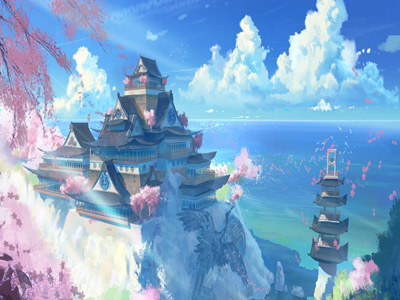 Japan Temple Scenery Anime Manga Wallpapers | Free ...
