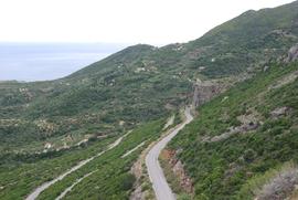 route de Néapoli à Vélanidia