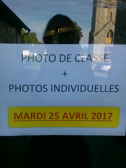 photo de classe le mardi 25/04/17