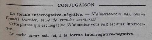 C / La forme interro-négative