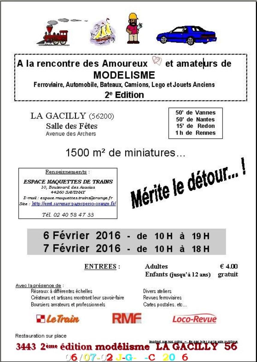 2ème  SALON DU MODÉLISME 06//07-02-2016 DE LA GACILLY  56   D        26/02/2016