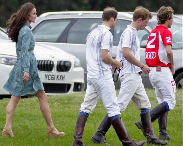 Kate, William et Harry au polo