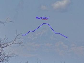 Le Mont Viso? (la vu était bien plus nette en réalité)