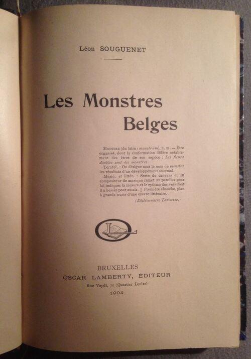 Léon Souguenet - Les montres belges (1904)-1ère page
