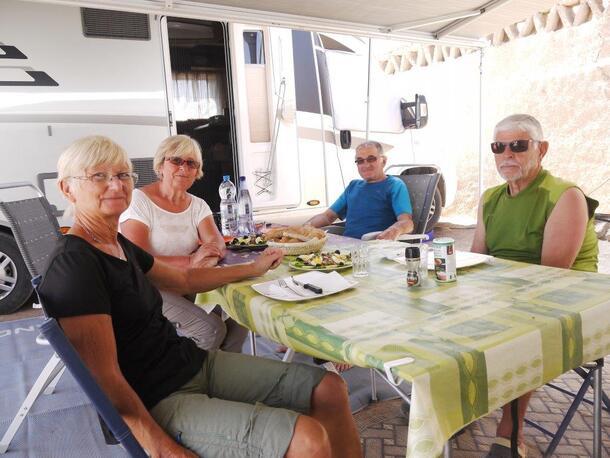Repas au camping