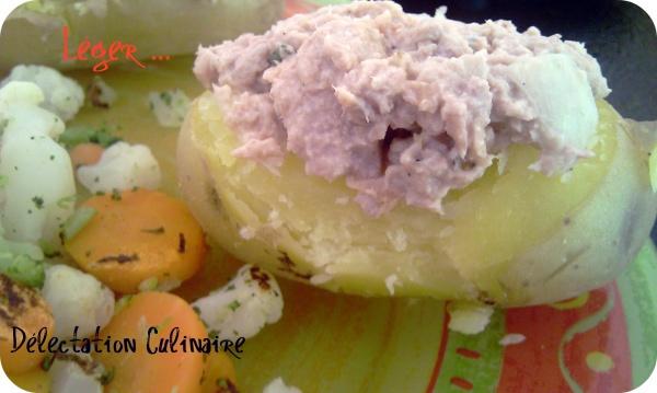 Pommes de terre farcies, miettes de thon fraîcheur