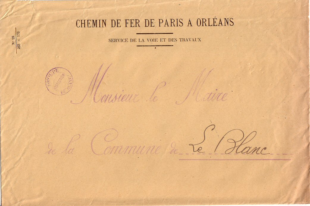 courrier des Chemins de fer de Paris à Orléans 6/8/1914