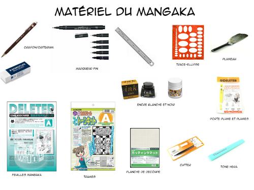 Le matériel pour dessiner un mangas