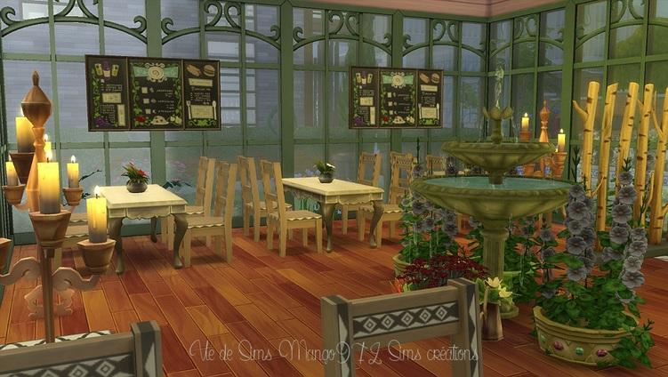 Le restaurant La Serre,Sims 4