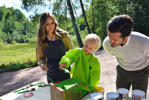 CF - Sofia et Gabriel de Suède visitent Säterdalen