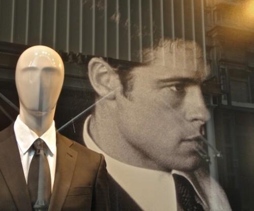 Printemps Brummell mannequin et star Brad Pitt