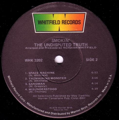 "1979 : Album "" Smokin' "" Whitfield Records WHK 3202 [ US ]"
