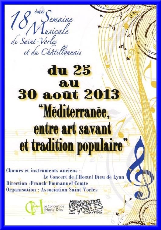 La semaine musicale de Saint Vorles 2013