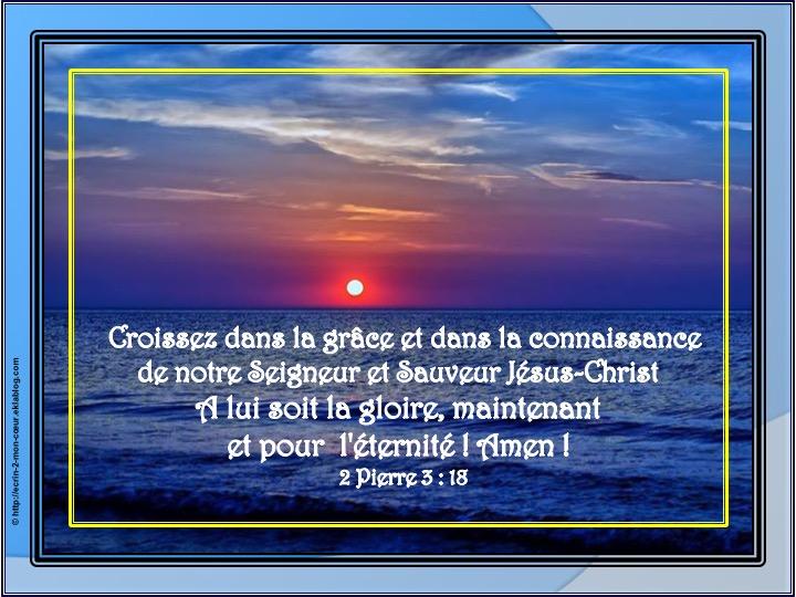 Croissez dans la grâce et dans la connaissance - 2 Pierre 3 : 18