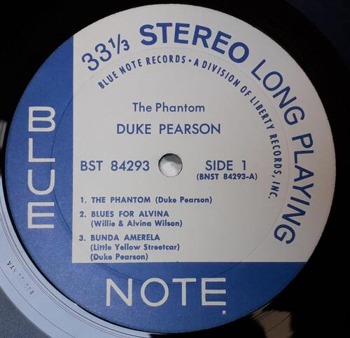 "DUKE PEARSON ""THE PHANTOM"" - Blue Note ‎– BST 84293 © 1968"