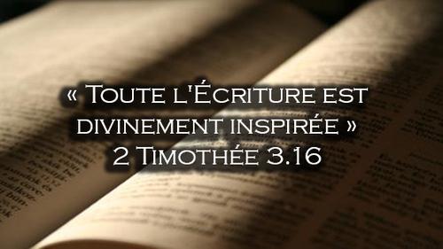 2 Timothée 3:16-17