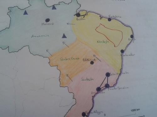 Carte Bac : Le Brésil