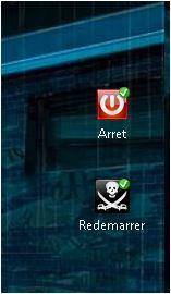 Raccourcis bureau pour Arreter ou Redemarrer votre PC