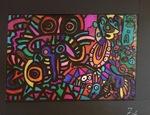 Les vitraux de Keith Haring