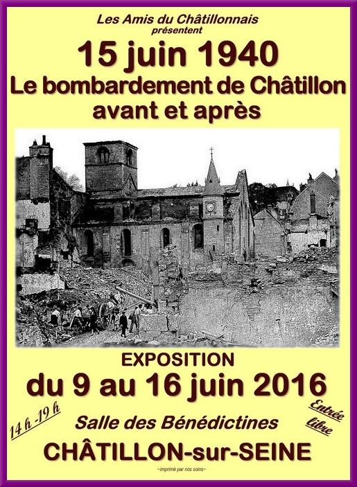 Les Amis du Châtillonnais présent une très belle exposition sur le bombardement de Châtillon sur Seine en